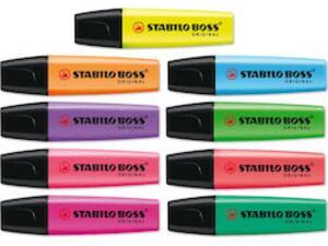 Μαρκαδόρος υπογράμμισης STABILO Boss σε διάφορα χρώματα
