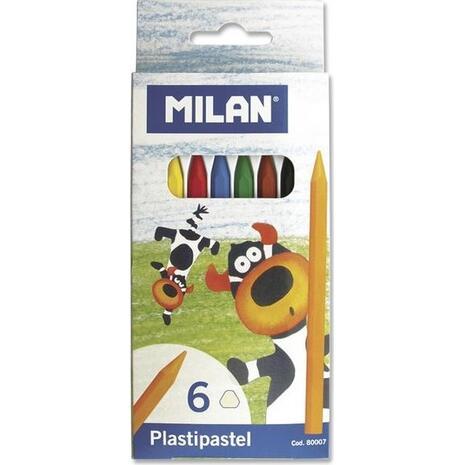 Kηρομπογιές MILAN 80007 (Συσκευασία 6 τεμαχίων) (Διάφορα χρώματα)