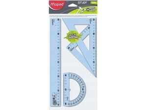 Σετ γεωμετρικά σχήματα MAPED Unbreakable 30cm (σετ 4 τεμαχίων)