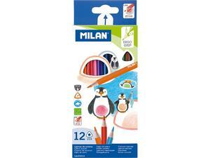 Ξυλομπογιές Milan (Συσκευασία 12 τεμάχιων)