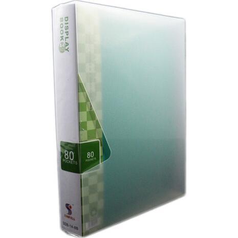 Ντοσιέ SUNFULL 80 διαφανείς θήκες display book (Πράσινο)