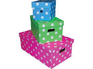 Κουτί Α4 απο χαρτόνι πουά σε διάφορα χρώματα