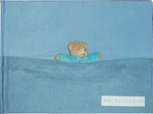 """Άλμπουμ φωτογραφιών ανάπτυξης μπλε """"αρκουδάκι"""" 28x20cm"""