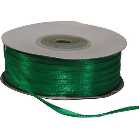 Κορδέλα Σατέν διπλής όψης με ούγια 3mmx1m Πράσινη