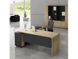 Γραφείο επαγγελματικής χρήσης Project δεξιά γωνία  220x90/200x40 [Ε-00020622] ΕΟ936,R (Γκρι)