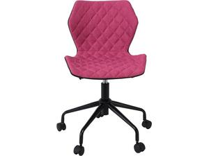 Καρέκλα Γραφείου DAVID PU μαύρο/Υφασμα Ροδί [Ε-00020984] ΕΟ207,2