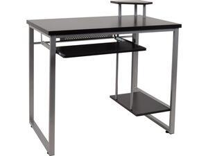 Γραφείο επαγγελματικής χρήσης 85x55x76/87cm Silver/MDF Wenge ΕΟ407