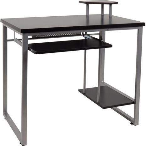 Γραφείο μεταλλικό 85x55x76/87cm Silver/MDF Wenge ΕΟ407