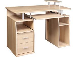 Γραφείο επαγγελματικής χρήσης Mdf Beech Ε-00018262] ΕΟ421,1 120x55x75/85cm