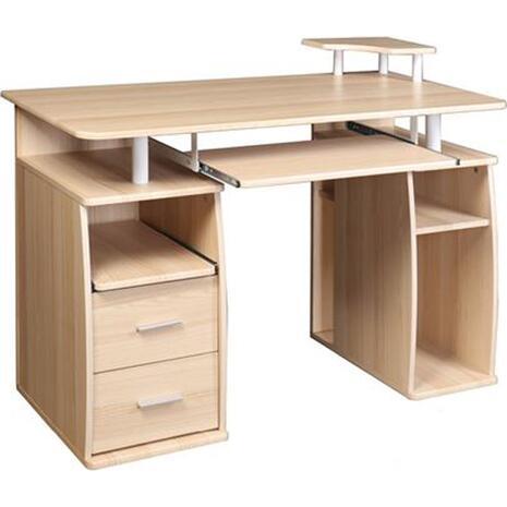 Γραφείο επαγγελματικής χρήσης Mdf Beech Ε-00018262] ΕΟ421,1 120x55x75/85cm (Μπεζ)