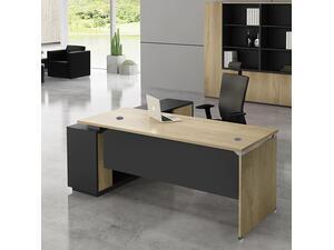 Γραφείο επαγγελματικής χρήσης Project Sonoma δεξιά γωνία [Ε-00020618] ΕΟ945,R 160x60/140x40 (H.75)cm