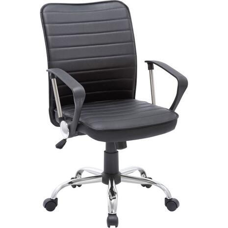 Πολυθρόνα γραφείου Pvc Μαύρο BF 3450 [Ε-00018618] ΕΟ219