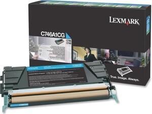 Toner εκτυπωτή Lexmark C746A1CG cyan