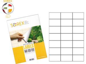 Ετικέτες αυτοκόλλητες SOREX 70x37 cm