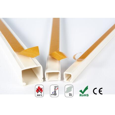 Κανάλι καλωδίων COURBI 40x40cm 2m αυτοκόλλητο πλαστικό κλειστού τύπου λευκό (24-20035-404)