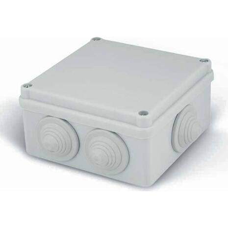 Κουτί στεγανό 100x100x50cm διακλάδωσης με βιδωτό καπάκι γκρι (32-21005-100)