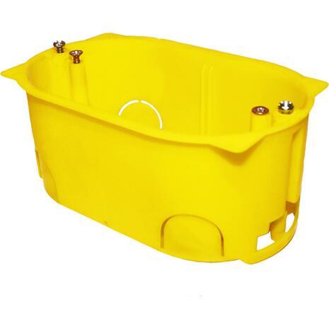 Κουτί διακοπτών MODUL COURBI 65x110x50 3 θέσεων κίτρινο (08-21046-003)