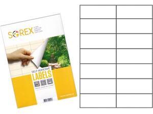 Ετικέτες αυτοκόλλητες SOREX 105x42.3mm