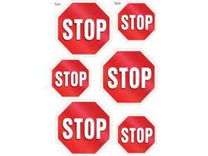 """Πινακίδα """"STOP"""" (6x5-7cm) αυτοκόλλητο"""