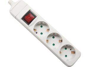Πολύμπριζο 3 θέσεων με διακόπτη ELECTROPACK 1.5Μ 3x1.5mm2 λευκό