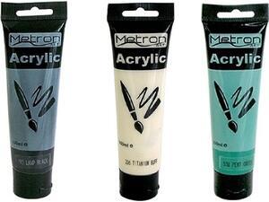 Ακρυλικά χρώματα Metron Art 100ml σε διάφορα χρώματα
