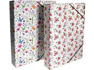 """Κουτί αρχειοθέτησης με λάστιχο """"Romantic"""" 33.5x25x3cm"""