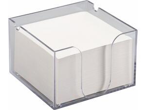 Κύβος πλαστικός διάφανος με χαρτάκια