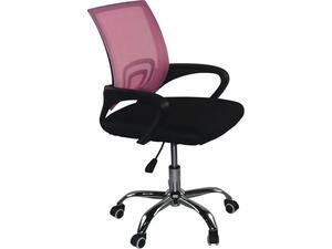 Καρέκλα γραφείου BF2101-F Mesh Ροζ/Μαύρο ΕΟ254,7FC (Ροζ)