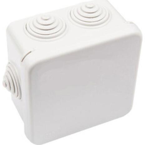 Κουτί στεγανό  65x65x40 διακλάδωσης τετράγωνο με πρεσαριστό καπάκι λευκό (32-21022-808)