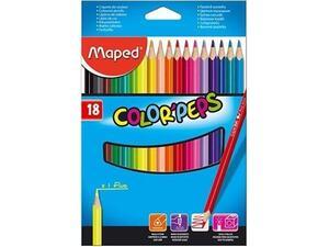 Ξυλομπογιές MAPED Color' Peps (πακέτο 18 τεμαχίων)