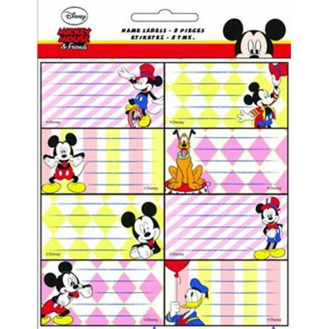 Σχολικές ετικέτες GIM Glitter Mickey (συσκευασία 16 ετικετών) (773-00046)
