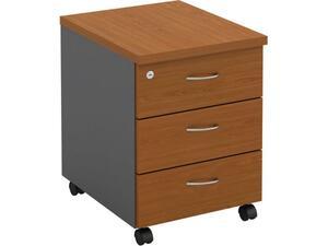 Συρταριέρα γραφείου  3 Συρτάρια 40x48x56cm γκρι/cherry [Ε-00020382] ΕΟ124,4New (Cherry)