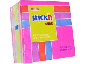 Αυτοκόλλητα χαρτάκια σημειώσεων STICK'N 76x76cm ροζ νεον παστελ 400 φύλλα