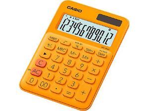 Αριθμομηχανή CASIO MS-20UC-RG 12 ψηφίων 10.3x14.5cm πορτοκαλί