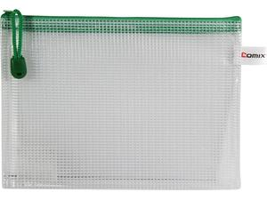 Τσαντάκι με φερμουάρ Comix PVC A5 21x15cm διάφανο