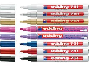 Μαρκαδόρος ανεξίτηλος EDDING 751 pastel σε διάφορα χρώματα