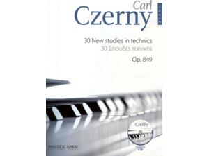 Carl Czerny 30 new studies in techniques op.849