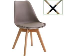 Καρέκλα MARTIN PP Sand Beige Ξύλινο πόδι Metal Cross 49x56x82cm [Ε-00018533] ΕΜ136,90 (Μπεζ)