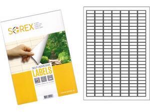 Ετικέτες αυτοκόλλητες SOREX 25.4x10mm