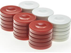 Πούλια πλαστικά κόκκινα-λευκά φ36Χ6mm pp1red - Manopoulos