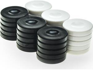 Πούλια πλαστικά μαύρα - μπεζ  Φ36Χ6mm pp1bla - Manopoulos