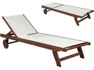 Ξαπλώστρα ξύλινη CRICKET Ξύλο Acacia/Textilene Ασπρο [Ε-00020131] Ε20122,9