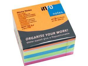 Αυτοκόλλητα χαρτάκια σημειώσεων INFO Brillant 75x75mm 450 φύλλα