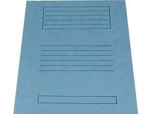 Ντοσιέ xάρτινο μανίλα δίφυλλο με αυτιά 24x34cm Μπλέ