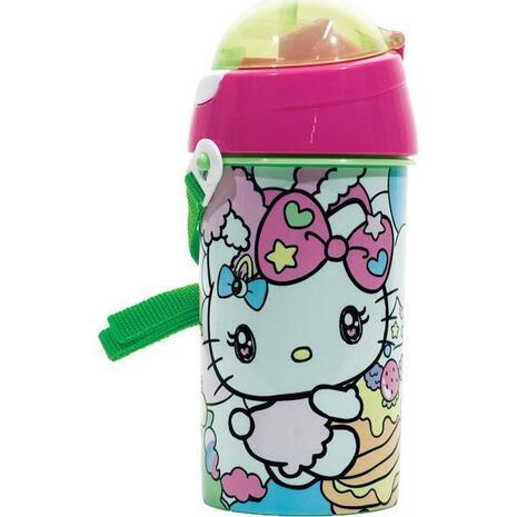 Παγουρίνο Πλαστικό GIM Flip Pop Up Hello Kitty Rainbow (557-92209)