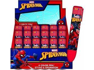 Στυλό GIM 6 χρώματα Spiderman (337-72648)