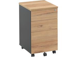 Συρταριέρα γραφείου τροχήλατη LOGIC DG/Απόχρωση Σημύδας