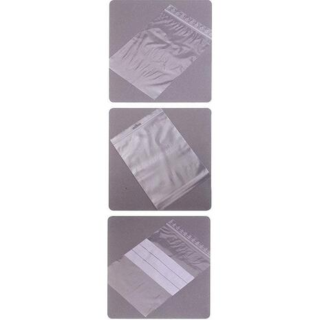 Σακουλάκια ασφαλείας ZIP 70mmx100mm με ετικέτα Συσκευασία 100 τεμαχίων(21590)