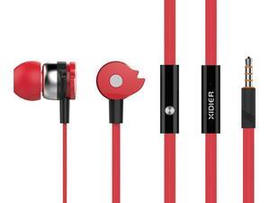 Ακουστικά με μικρόφωνο CELEBRAT D1, on/off, 10mm, 1.2m flat, κόκκινα