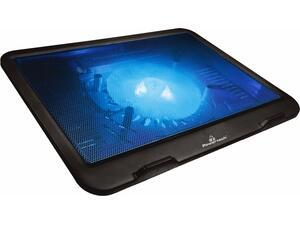 """Βάση & ψύξη laptop POWERTECH PT-740 έως 15.6"""", 125mm fan, LED, μαύρο PT-740"""
